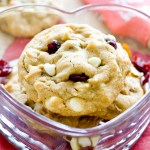 White Chocolate Cherry Almond Cookies