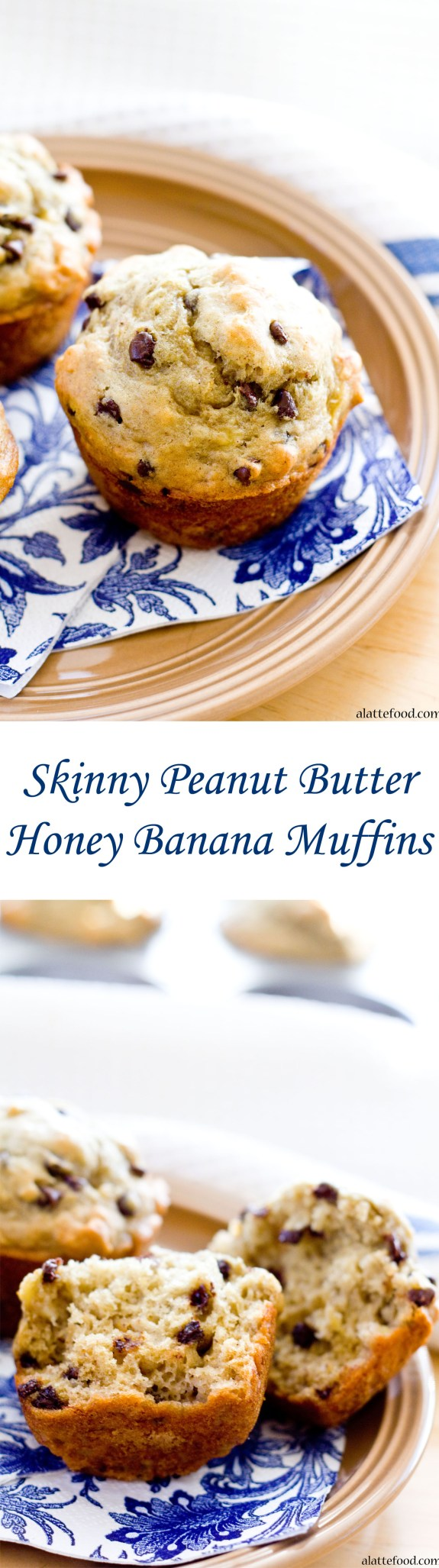 Skinny Peanut Butter Honey Banana Muffins | A Latte Food