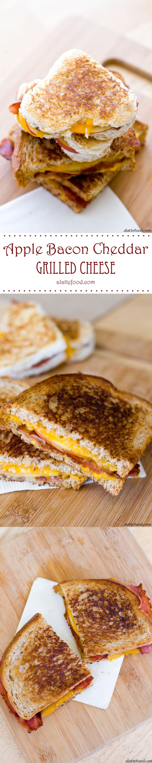 Apple Bacon and Cheddar Grilled Cheese | A Latte Food