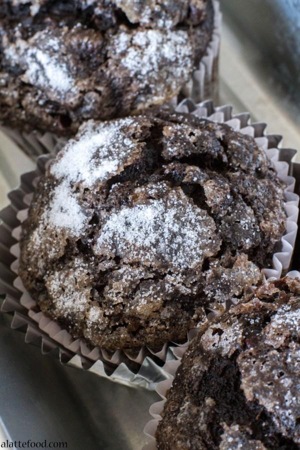 Dark Chocolate Banana Muffins | A Latte Food
