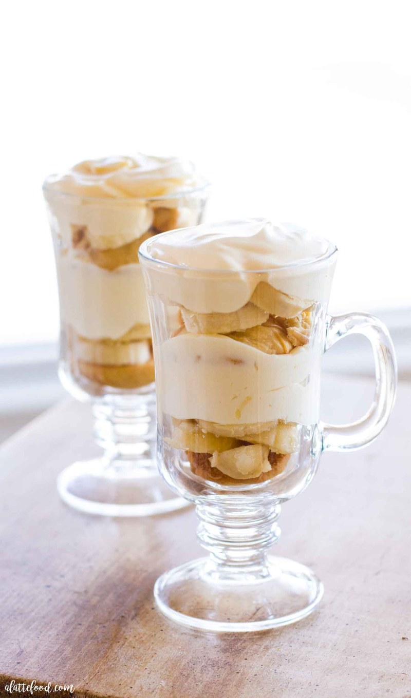far away shot banana pudding