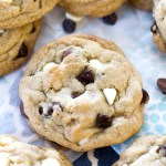 {Thick and Chewy} Triple Chocolate Chip Cookies