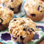 Blueberry Orange Crumb Muffins | A Latte Food
