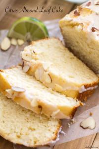 Citrus Almond Loaf Cake | A Latte Food
