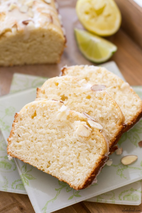 Citrus Almond Loaf Cake | A Latte Food