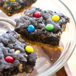 M&M's® Crispy Double Chocolate Peanut Butter Chip Cookie Bars