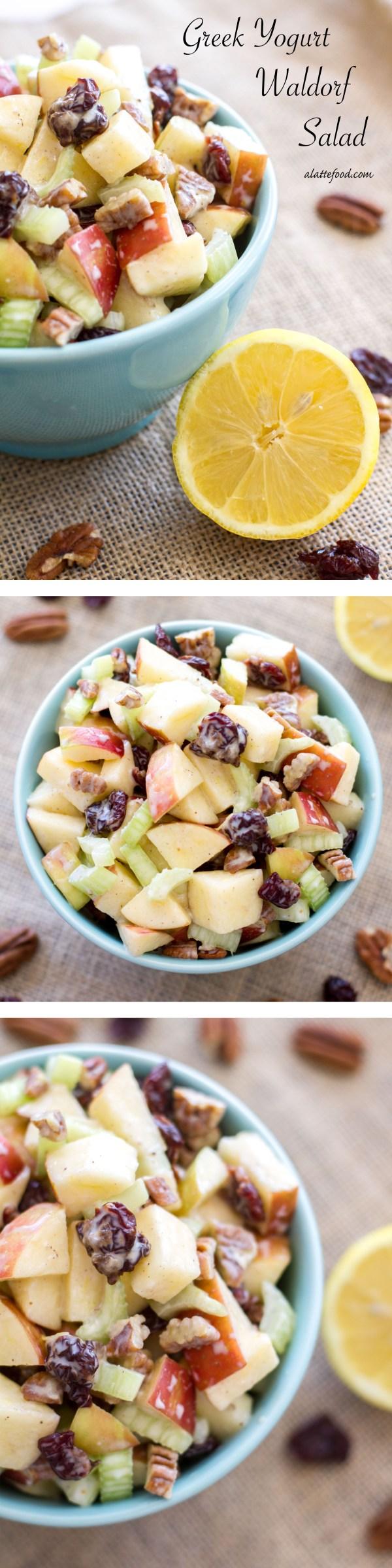 Greek Yogurt Waldorf Salad | A Latte Food