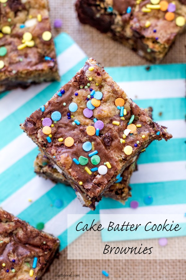 Cake Batter Cookie Brownies | A Latte Food
