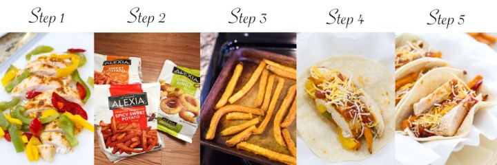 Sweet Potato Chicken Fajitas | A Latte Food