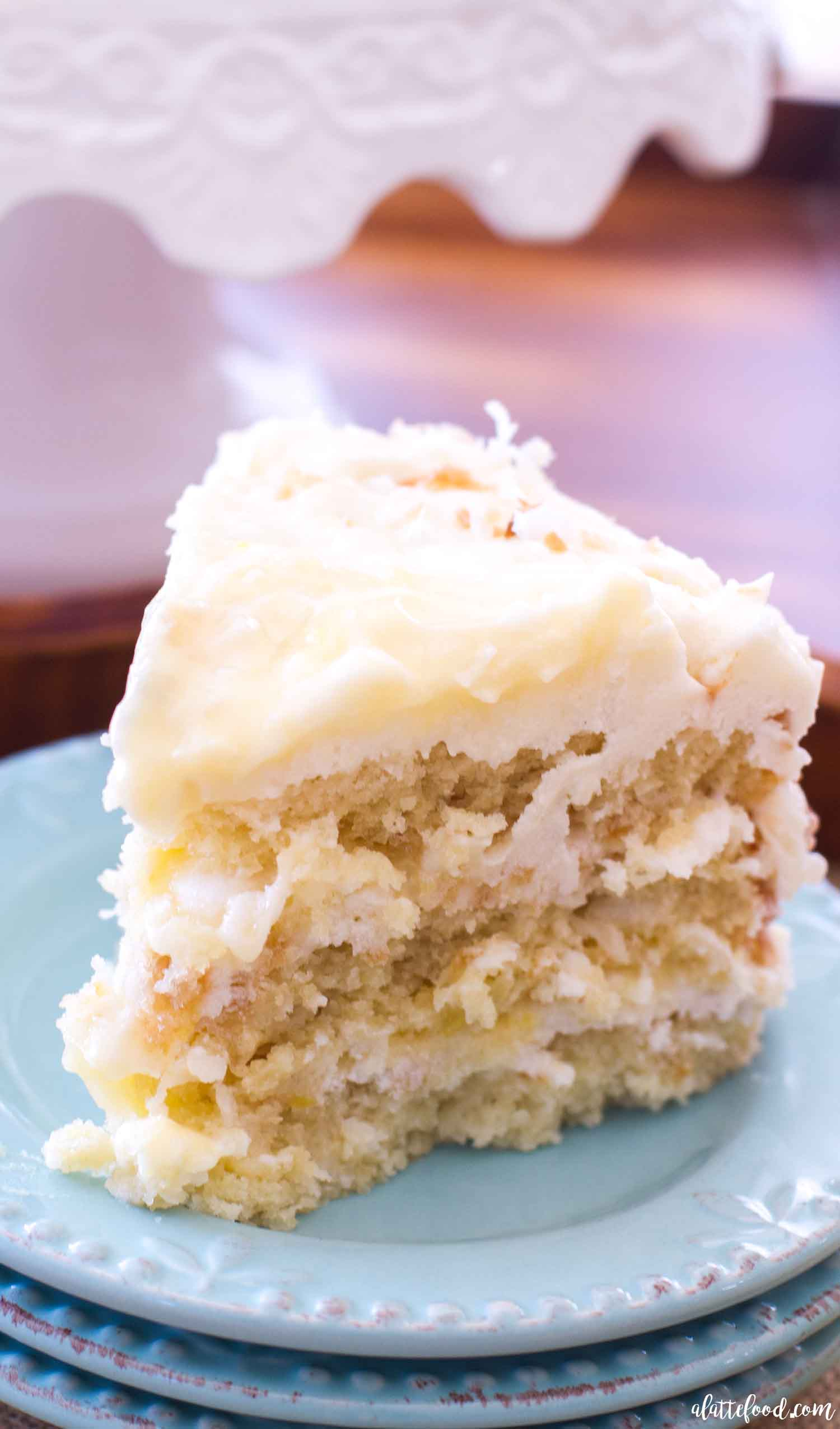 Lemon Coconut Cake A Latte Food