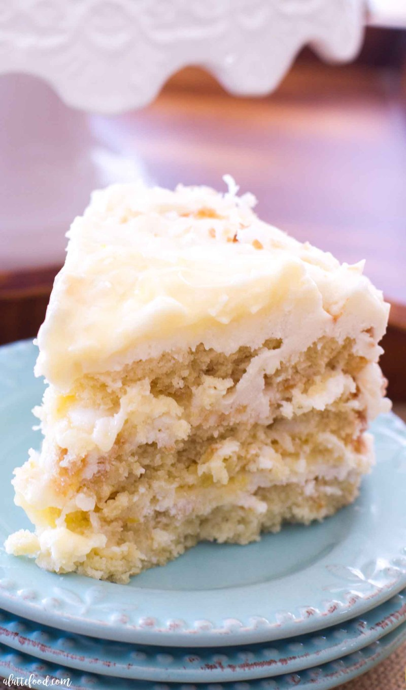 coconut lemon cake slice