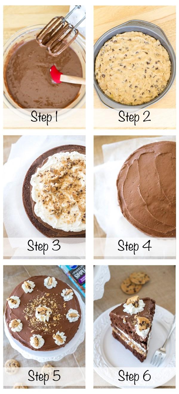Cookie Cake Steps 1