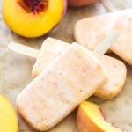 Creamy Peach Popsicles