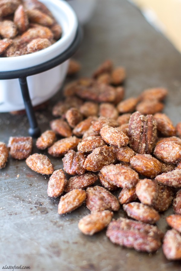 and pecans are candied with a blend of pumpkin pie spice, white sugar ...