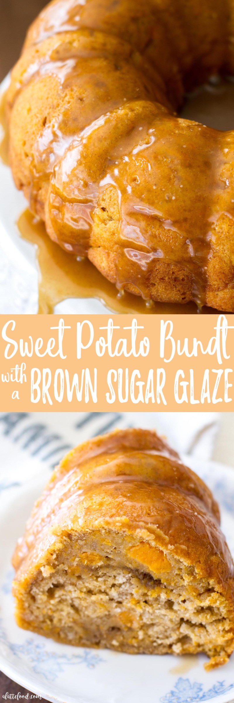 This easy bundt cake recipe is full of all the flavors of fall! Packed with brown sugar, sweet potato, and sweet spices, this Sweet Potato Bundt Cake with a Brown Sugar Glaze is sure to be a fall dessert favorite or even a new Thanksgiving dessert staple!