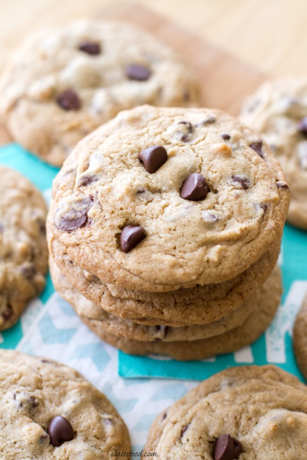 These tasty chocolate chip cookies are kicked up a notch with the addition of chocolate cherry chips!