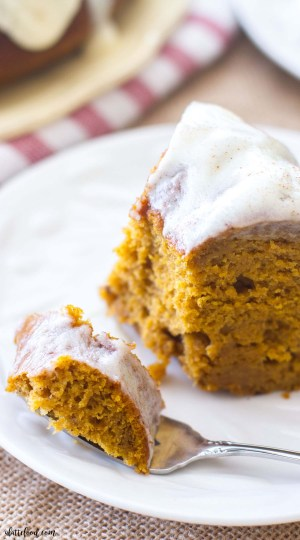 This classic fall dessert, Cream Cheese Glazed Pumpkin Bundt Cake, is full of pumpkin flavor, cinnamon spice, and rich cream cheese! This rich pumpkin cake is the perfect fall dessert, and the pumpkin cream cheese frosting is to die for! It is absolutely Heavenly.