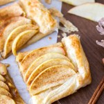 This easy apple tart recipe is made with only 5-ingredients! An easy and festive Christmas dessert!