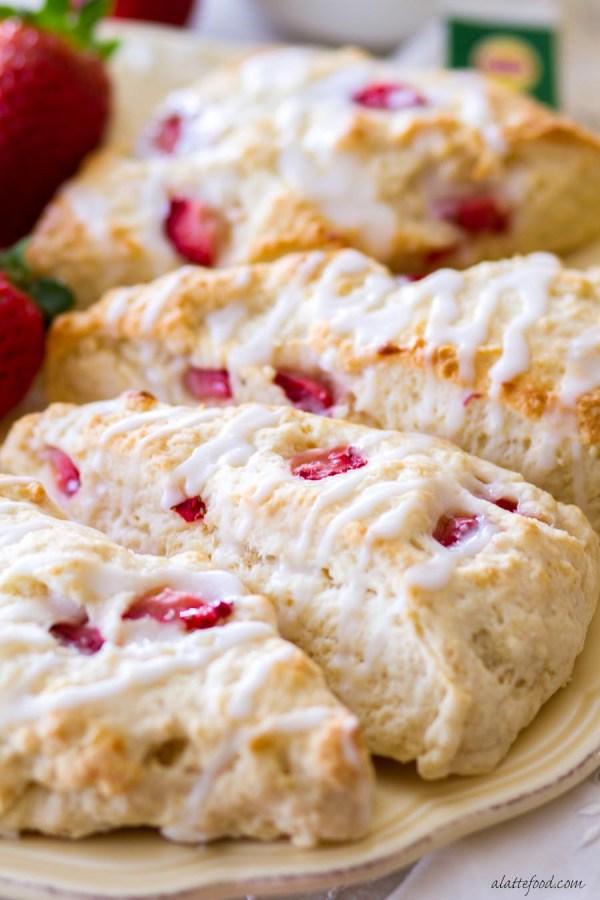 Strawberry Lemon Cream Scones A Latte Food