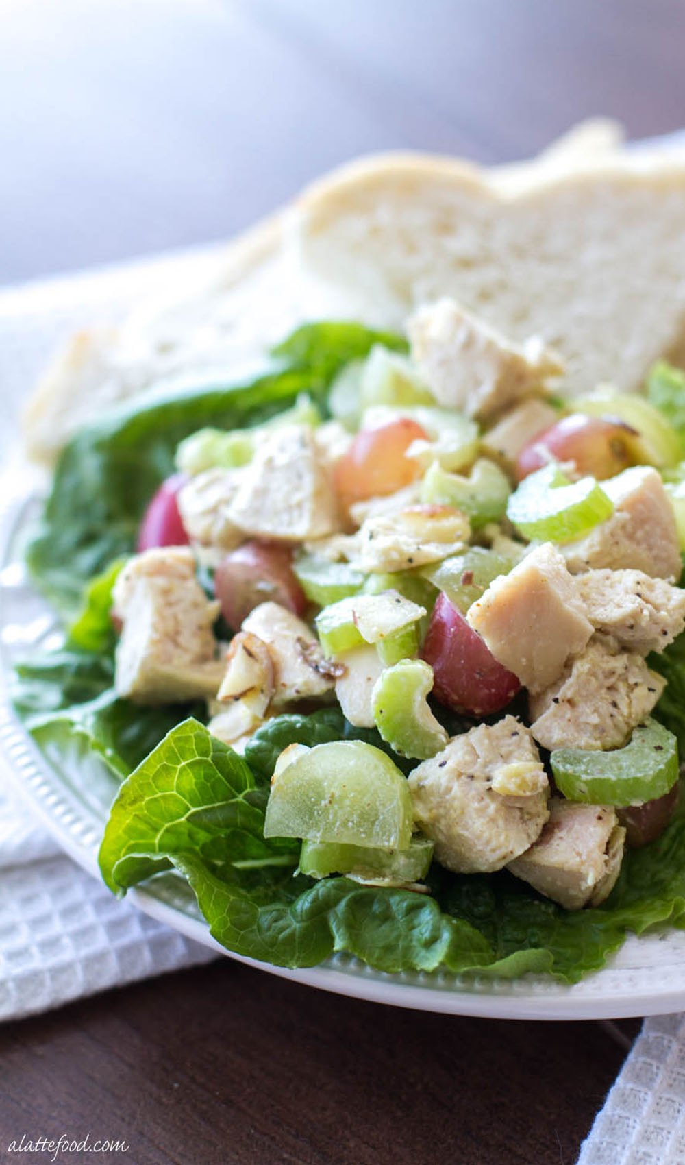 Light And Healthy Chicken Salad Recipe A Latte Food