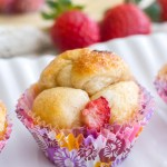 {Mini} Strawberry Cheesecake Monkey Bread
