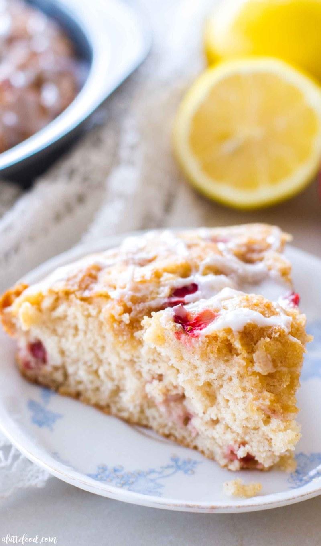 Strawberry Lemon Coffee Cake - A Latte Food