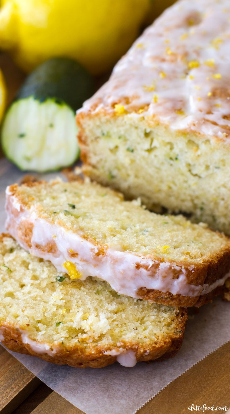 This easy zucchini bread recipe has a lemon bread twist to it, making it the perfect quick bread for spring and summer! Seriously, lemon zucchini bread is going to be your newest summer dessert obsession! lemon bread, zucchini bread, lemon dessert