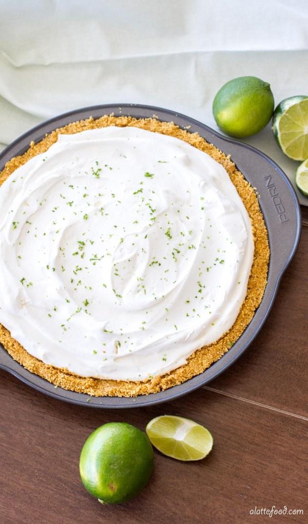 (Lighter) No-Bake Key Lime Frozen Yogurt Pie