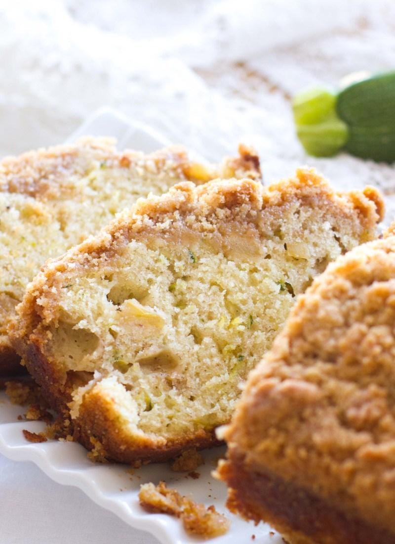 Zucchini Apple Crumb Bread