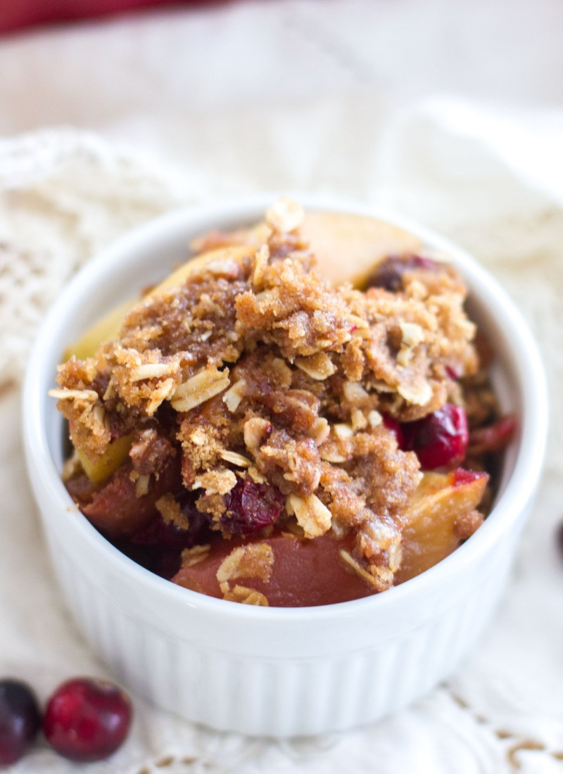 Cranberry Apple Crisp with a Brown Sugar Cinnamon Crumble