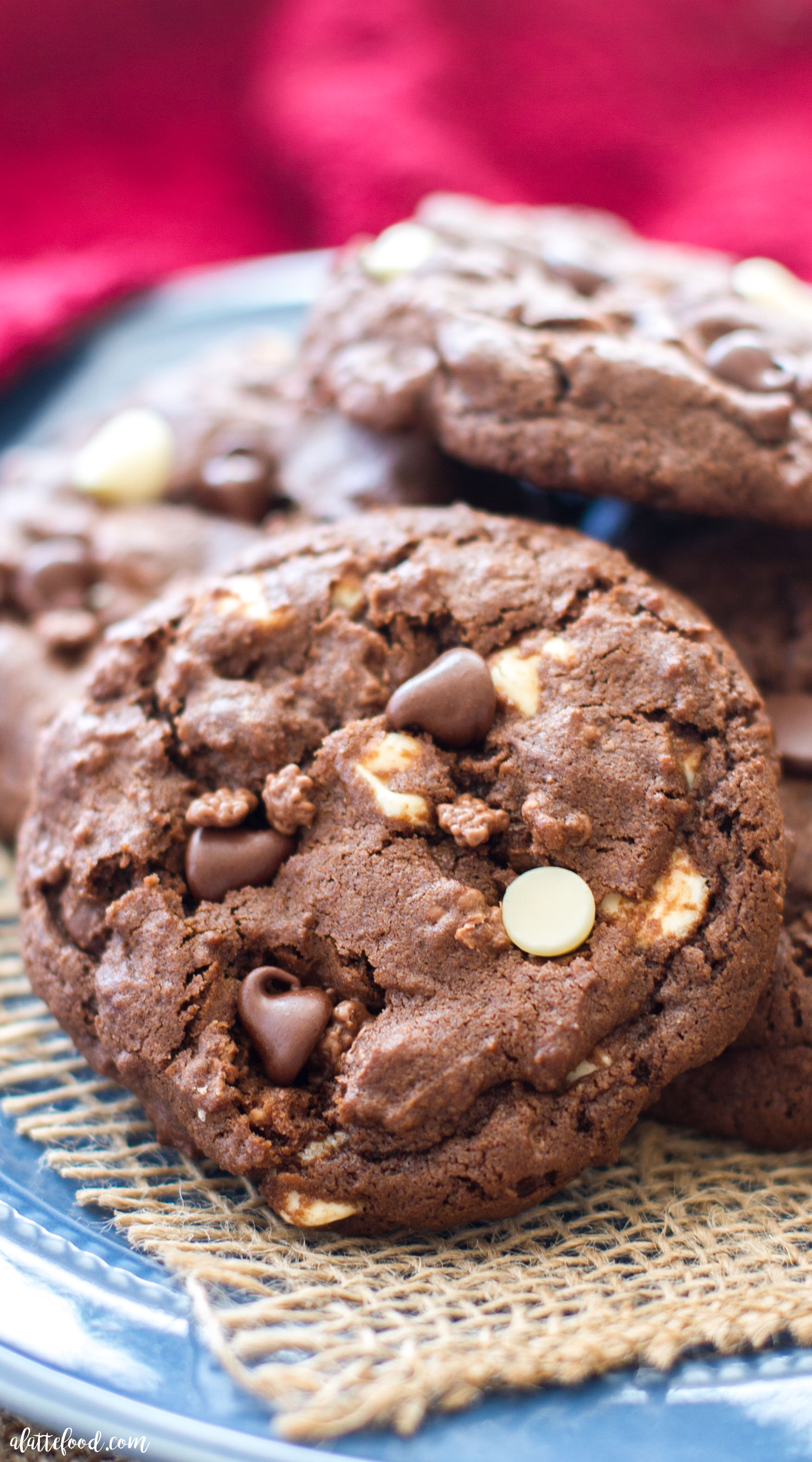 Double Chocolate Chip Crunch Cookies