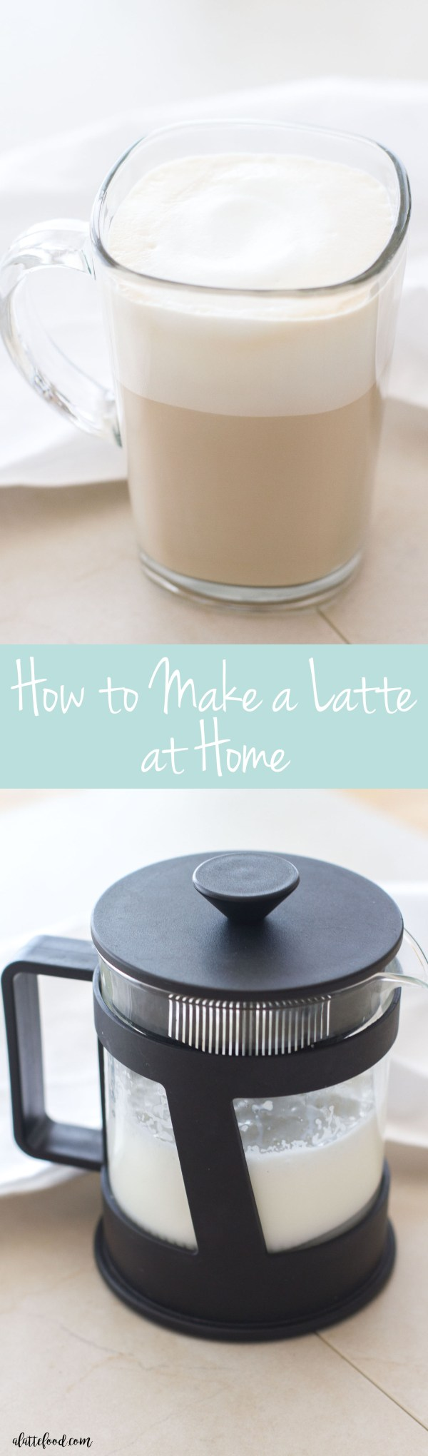 Learn how to make your favorite coffee shop drinks at home with one simple trick to make frothed milk! (No latte machine required!)