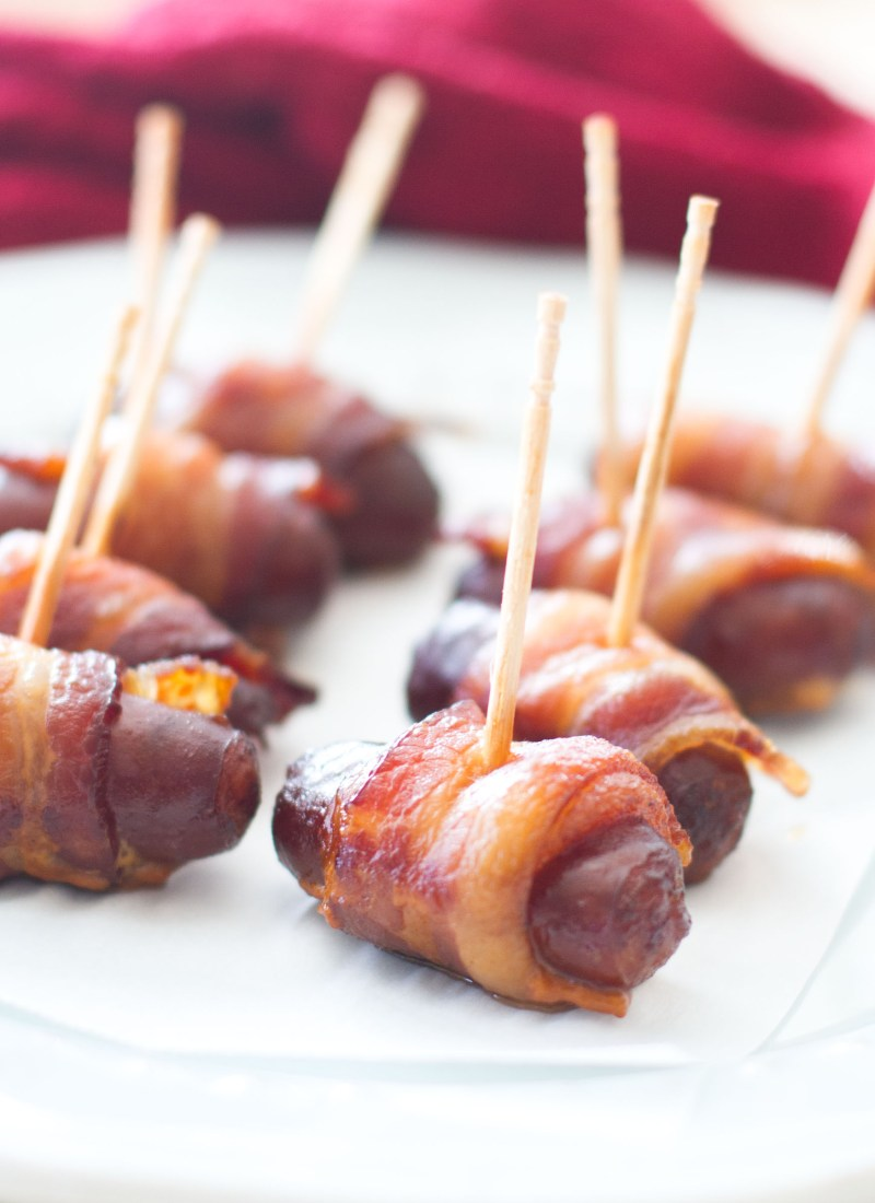 Ad: Slow Cooker Peach Barbecue Bacon Wrapped Smokies