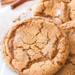 These chewy molasses sugar cookies are one of my favorite Christmas cookie recipes! They are rich, chewy, and have just a hint of spice to make them perfect for the holidays! Homemade molasses cookies are the best Christmas dessert or edible Christmas gift!