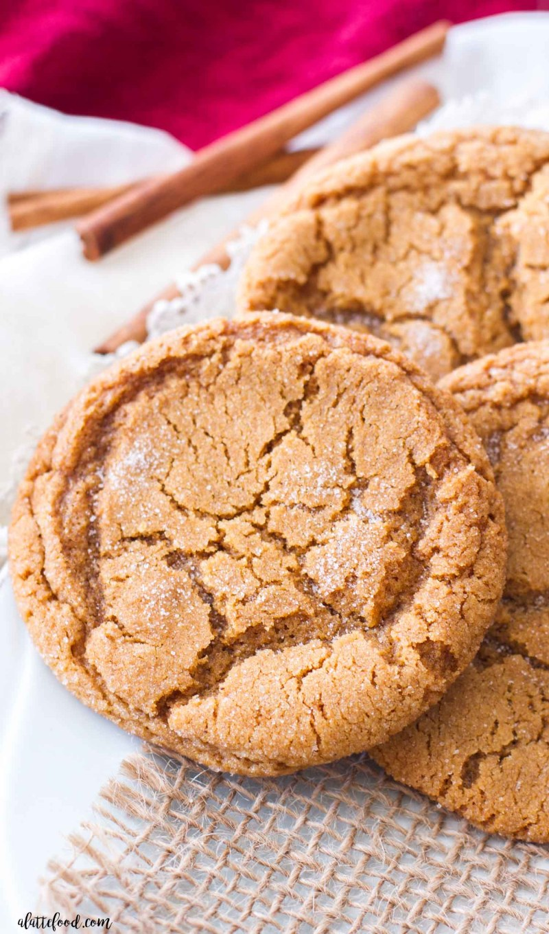 Chewy Molasses Sugar Cookies A Latte Food