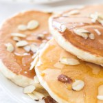 Greek Yogurt Honey Almond Pancakes