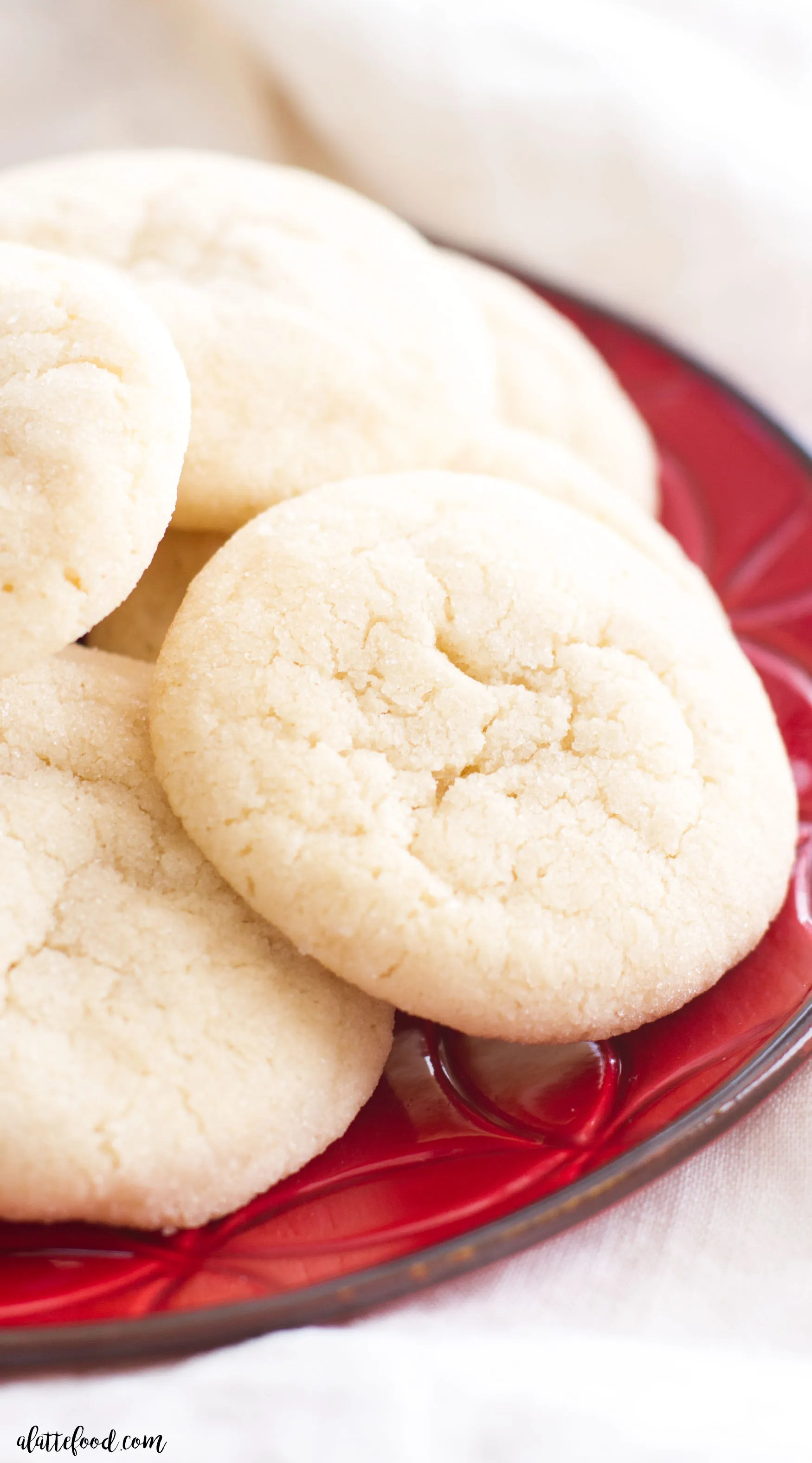 Chewy Sugar Cookies A Latte Food