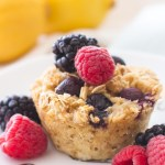 Lemon Berry Baked Oatmeal Cups