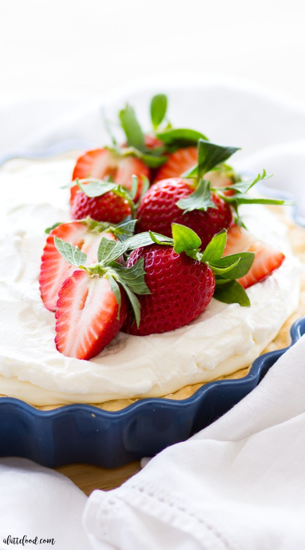 Strawberries and Cream Citrus Pie