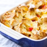 This Savory Bagel and Cream Cheese French Toast Casserole is the perfect Mother's Day brunch item! This savory French toast casserole recipe is so simple to make, and only calls for a few ingredients!
