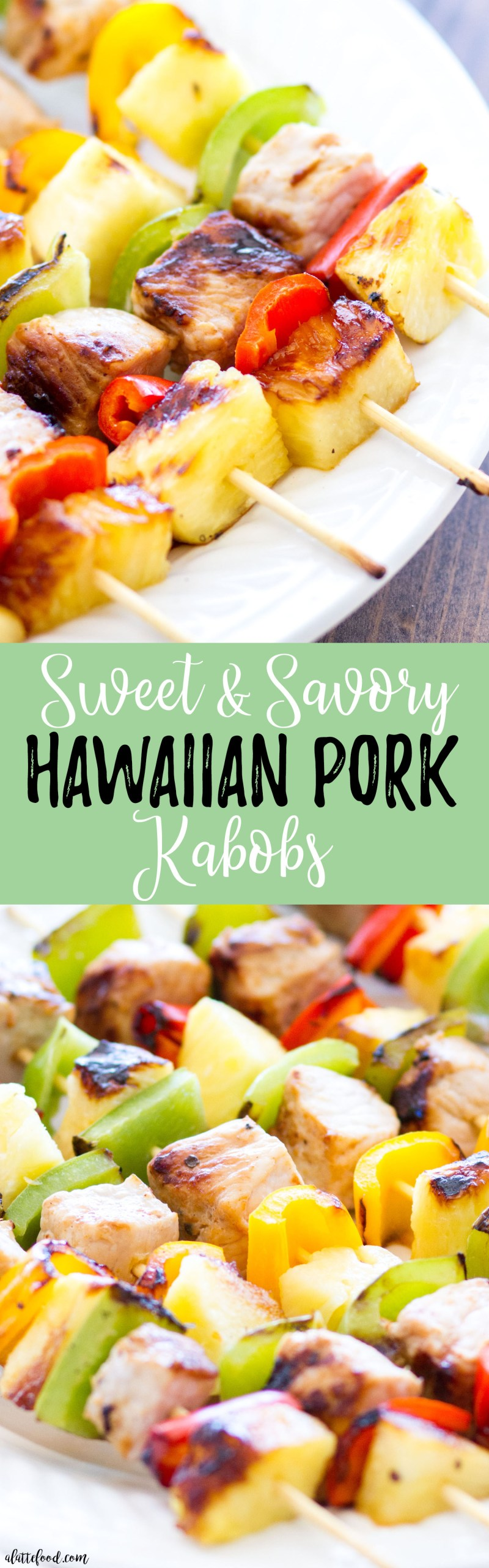 These quick and easy Hawaiian Pork Kabobs are full of bold flavors, and come together in under 30 minutes! The perfect back-to-school meal for busy families!