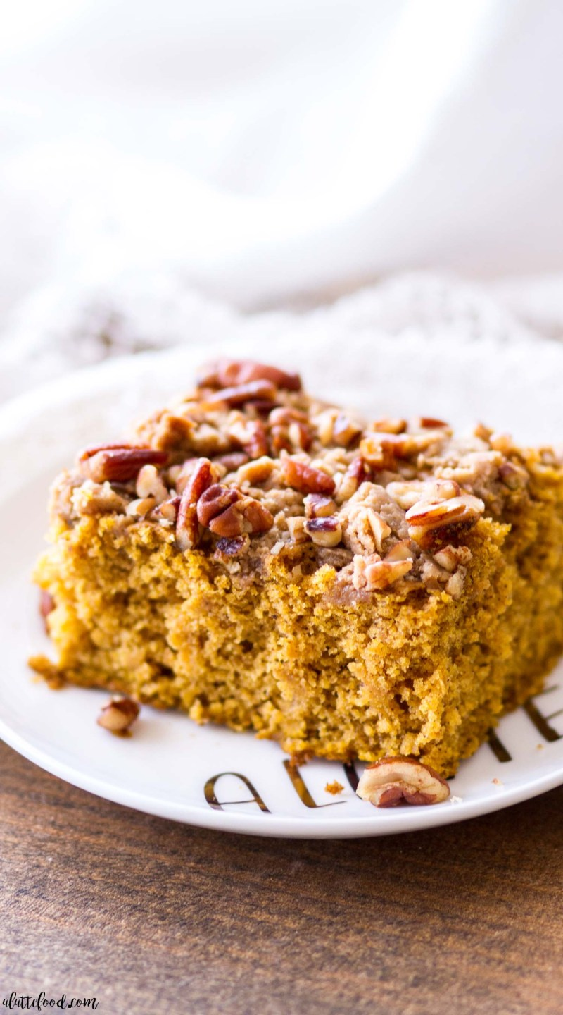 slice of pumpkin coffee cake