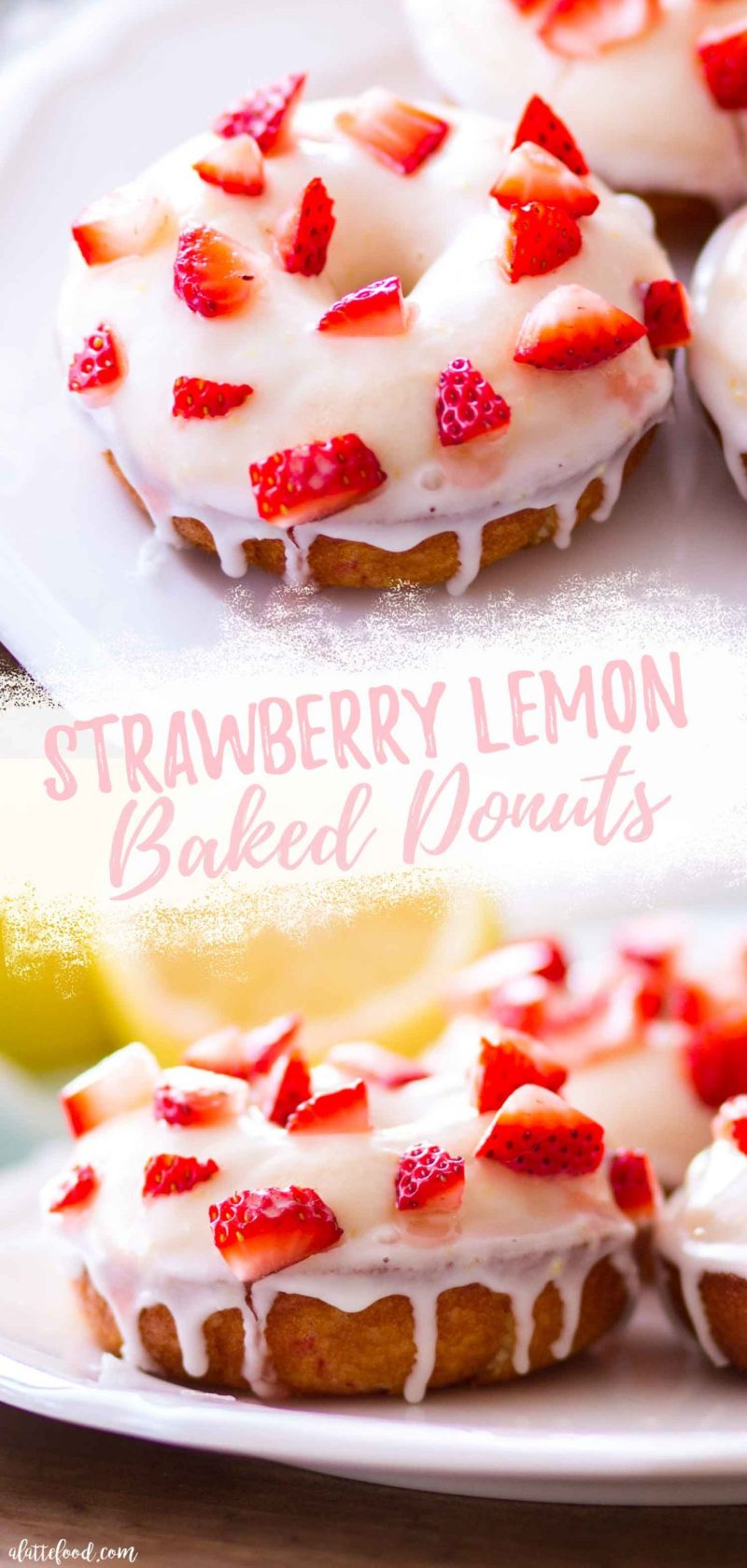 the best strawberry lemon donuts recipe collage