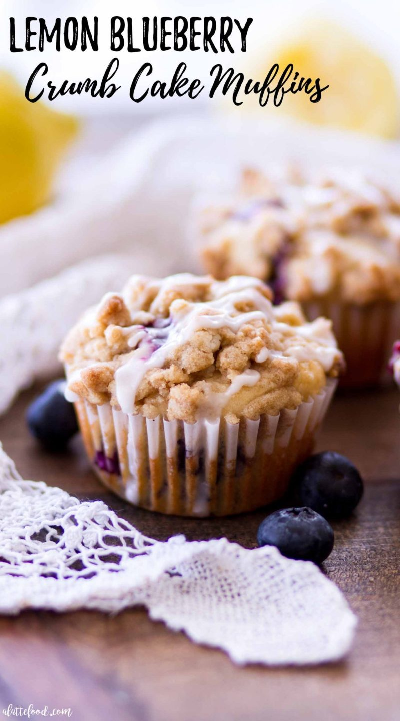 lemon blueberry crumb cake muffin recipe