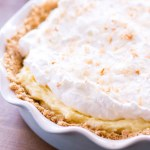 no bake coconut banana pie in pie plate