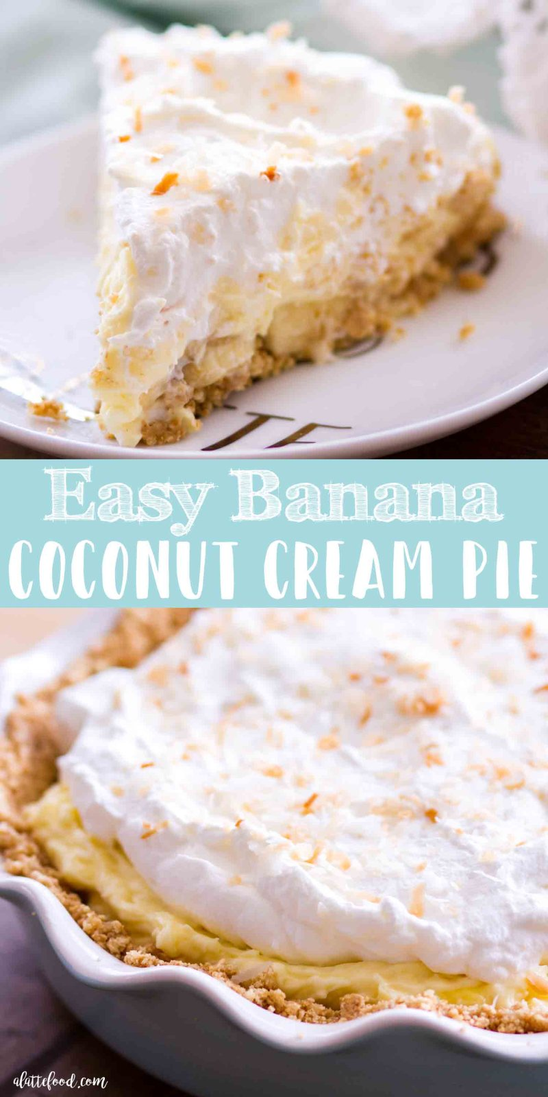 Easy Banana Coconut Cream Pie - A Latte Food-2971