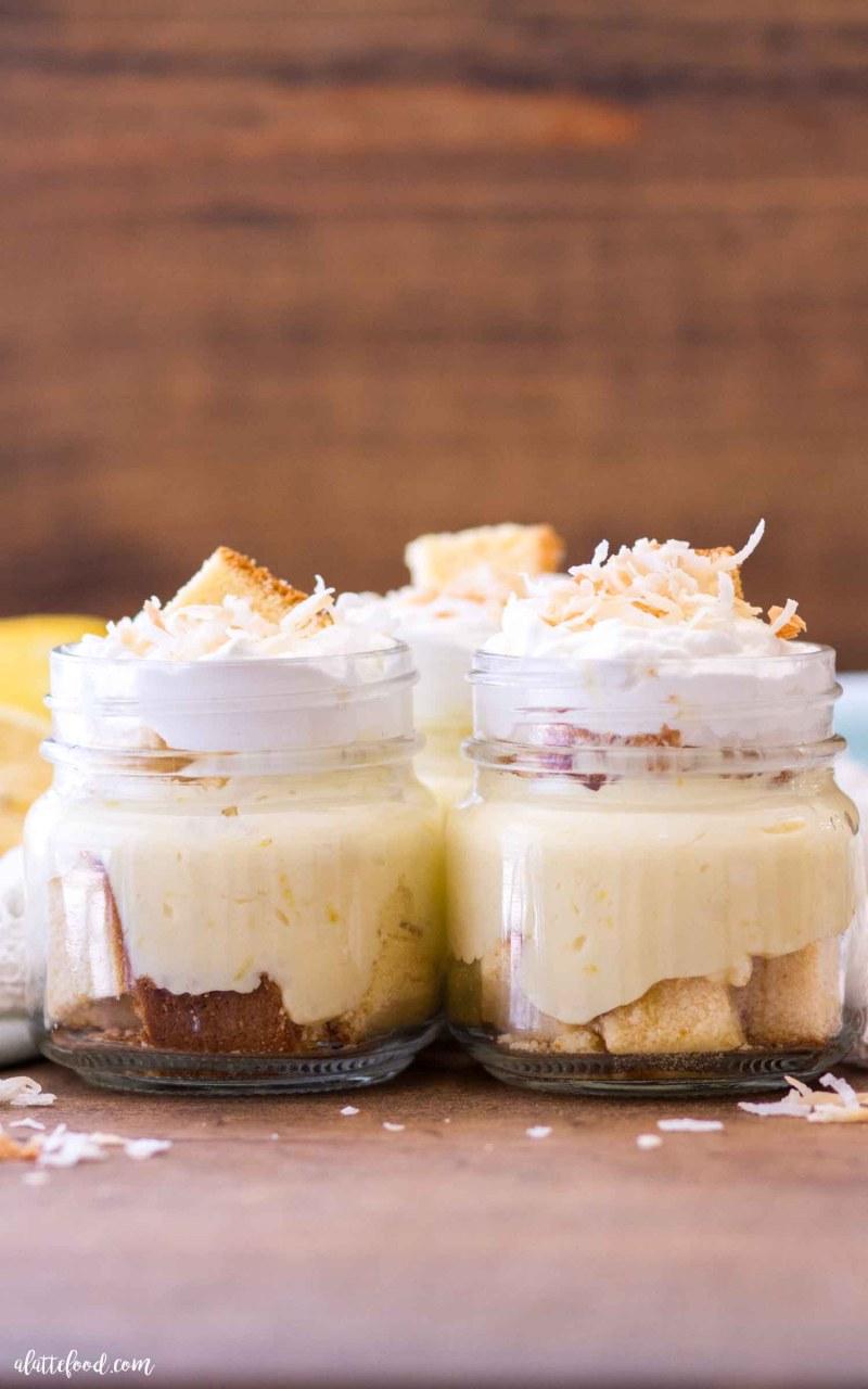 how to make no bake lemon coconut trifles
