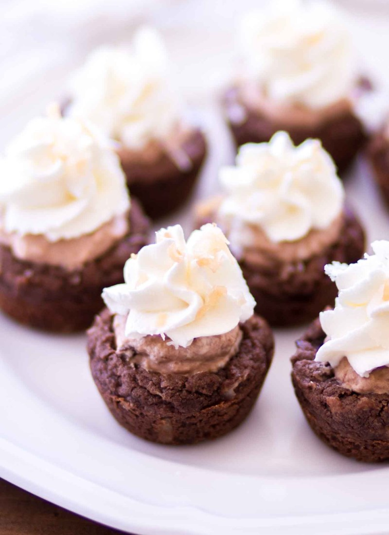 Chocolate Coconut Cream Pie Cookie Cups