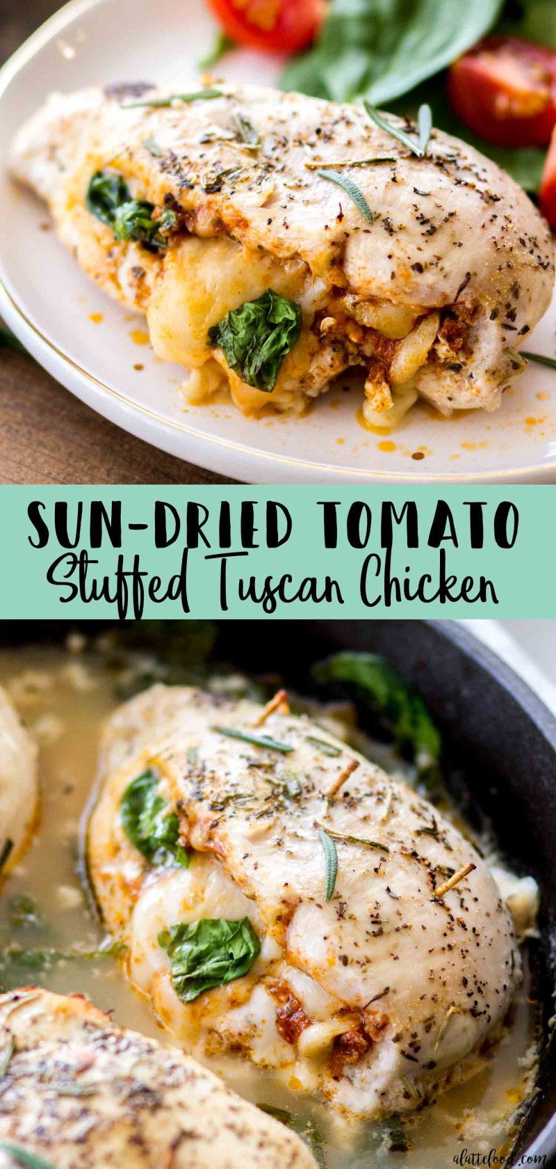 We love how easy these Sun Dried Tomato Stuffed Tuscan Chicken Breasts are to make for dinner!