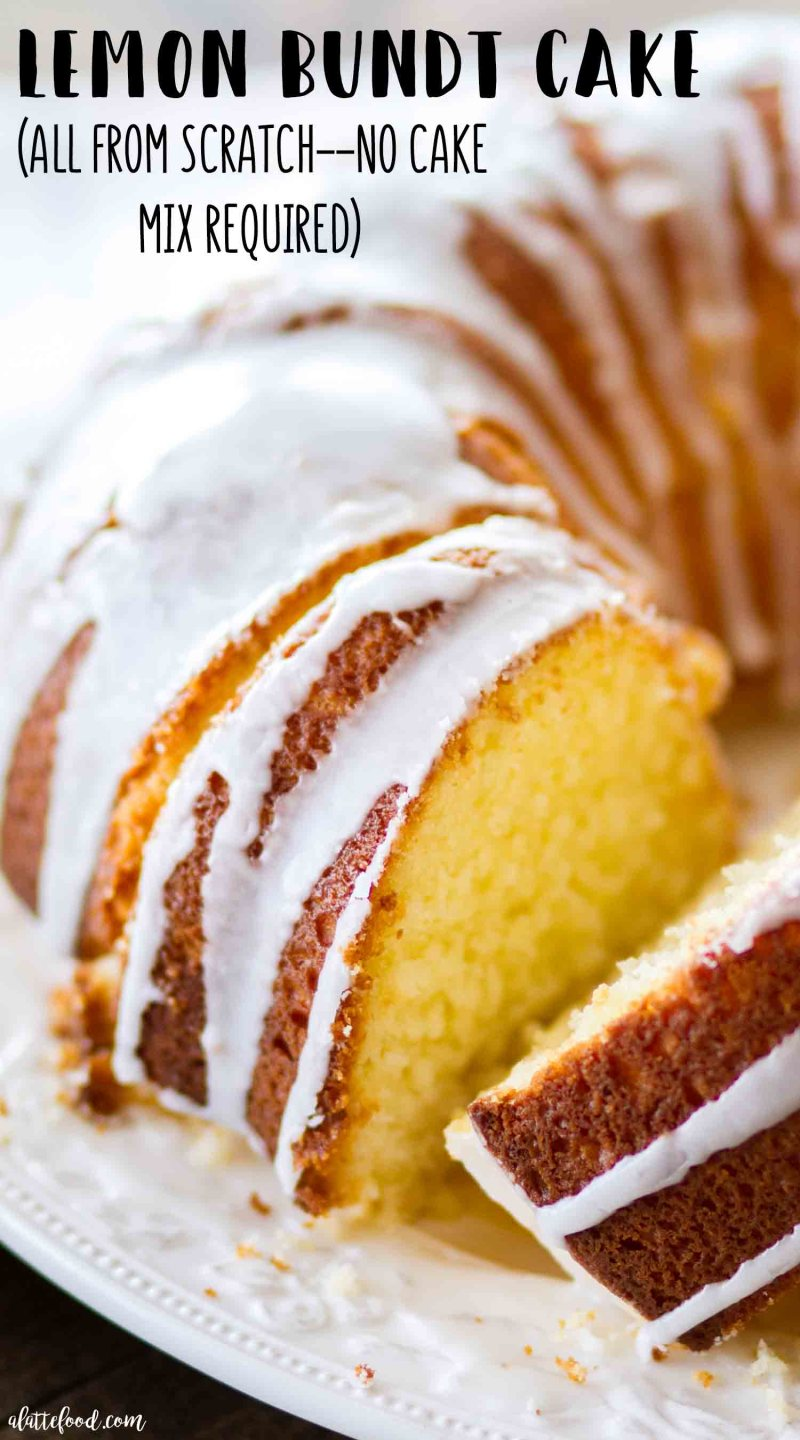 Easy lemon bundt cake from scratch (no cake mix)